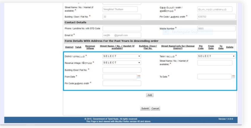 nativity certificate application form