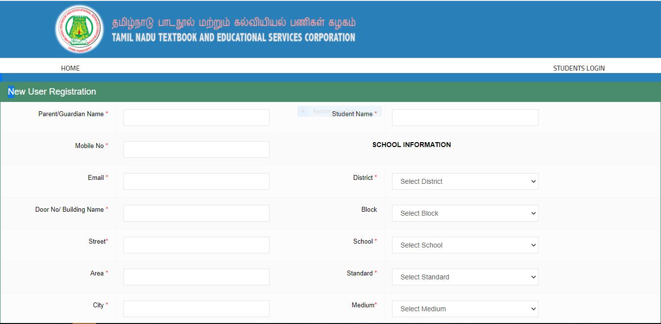 school books student registration