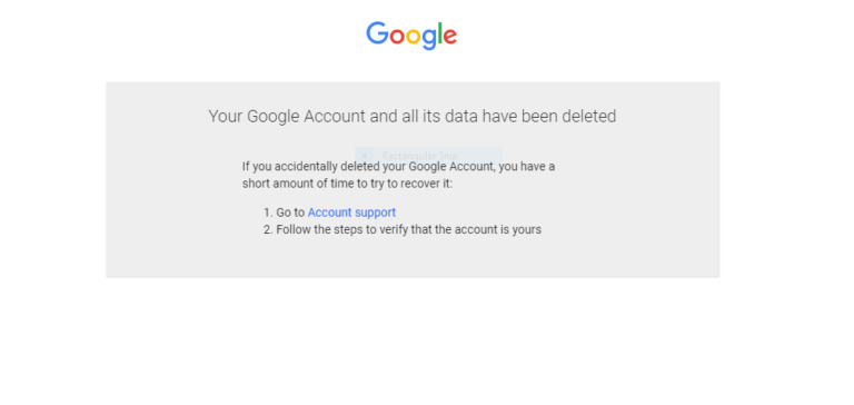 gmail account deletion